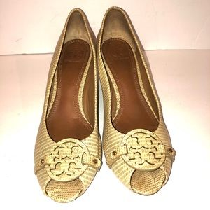 Pre- Owned Tory Burch wedge shoes S 9.5.